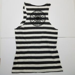 Soulcycle wheel striped tank top